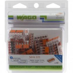 WAGO Pack de 40 Bornes de connexion universelle tous conduct