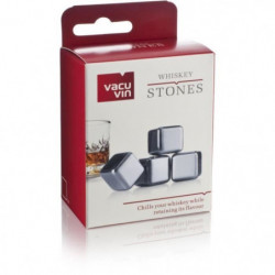 VACUVIN Lot de 4 Pierres a Whisky