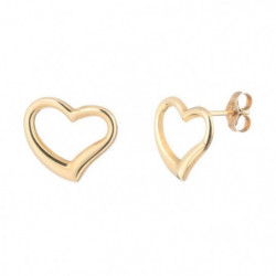 Boucles D'Oreilles Coeur Or Jaune 375/1000