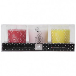 LE CHAT Coffret bougies My Candle Box parfums rose - fruits