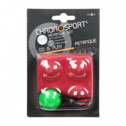 CHRONOSPORT Kit de Petanque 1 Mesureur + 1 But + 1 Tissu de