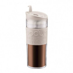 BODUM TRAVEL PRESS Mug de voyage 0,45L blanc creme