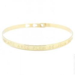 """BAM - Bracelet """"Parfaite, avec plein de jolis défauts"""" Femme"""