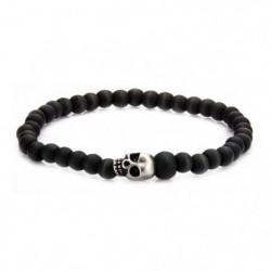 Bracelet Homme Avec Perles En Crâne En Acier Inoxydable Et P