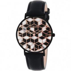 CLUELESS - BCL10192-003 / Montre Cuir Noir Cadran Noir Multi