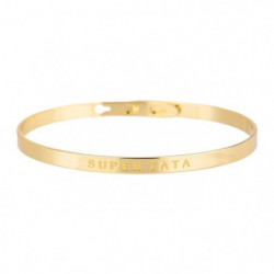 "BAM - Bracelet ""Super Tata"" Laiton doré - Femme"