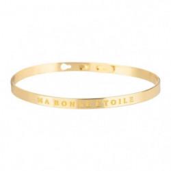 """BAM - Bracelet """"Ma Bonne Etoile"""" Laiton doré - Femme"""
