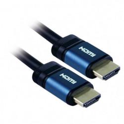 APM 590438 Câble HDMI Mâle / Mâle 3m - Plugs Bleus or - Bleu