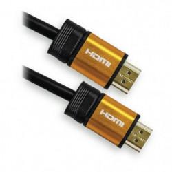 APM 590451 Câble HDMI Mâle / Mâle 1.4 - Plugs Jaune Or - 5 m