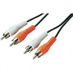 LINEAIRE A124D Câble 2 x RCA mâle / mâle 2m50