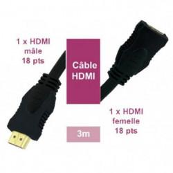 LINEAIRE XVHD51E Câble HDMI mâle/femelle 3m00