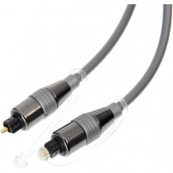 CONTINENTAL EDISON Câble Fibre optique 2.5 m EIAJ Toslink mâ