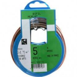 PROFIPLAST Couronne de câble 5 m HO3VHH 2 x 0,75 mm2 Or