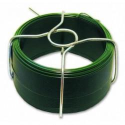 Fil en acier plastifié - L 30 m - Extérieur Ø 1,4 mm - Vert