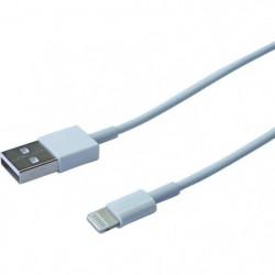 CONTINENTAL EDISON Câble Iphone Lightning Certifié MFI - 1 m