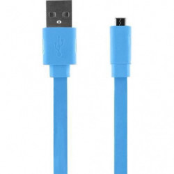 Câble universel de charge USB / Micro USB - 20cm - Bleu