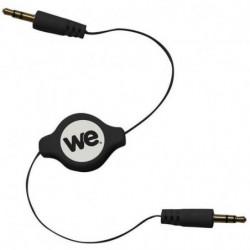 WE Câble Rétractable Jack/Jack noir 1m20