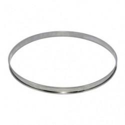 Cercle a tarte en inox -  Ø 8 x H 2 cm - Gris - Tous feux do