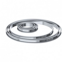 DE BUYER Cercle a tarte aux bords roulés perforés - Inox - Ø