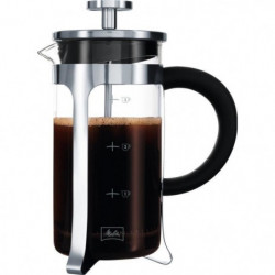 MELITTA Cafetiere a piston Micro-Ondable Premium en verre et
