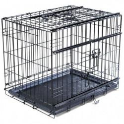 VADIGRAN Cage métallique pliable Premium - 56 x 33 x 41 cm -