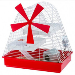 FERPLAST Cage Magic Mill 46x29,5x46,5 cm - Blanc - Pour hams