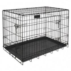RIGA cage pliable chiens GM - L 91 x l 58 x H 66 cm - Grands