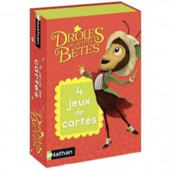 NATHAN - 4 Jeux de Cartes Drôles de Petites Betes - Jeu de C