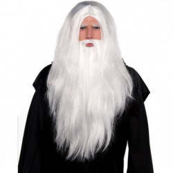 AMSCAN Kit sorcier - Perruque et barbe