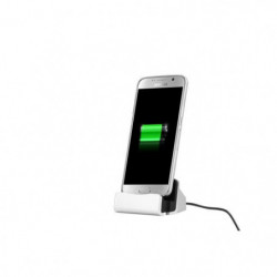 PLATYNE Station d'accueil universelle micro USB - Argentée