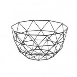 FRANDIS Corbeille a fruits triangles - 26x26x14cm - Noir mat
