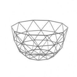 FRANDIS Corbeille a fruits triangles - 26x26x14cm - Gris mat