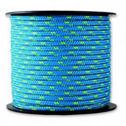 Tresse - Résistance 200 kg - Ø 3 mm x 25 m - Bleu et jaune