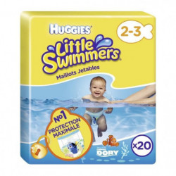 HUGGIES Maxi Pack Little Swimmers - Taille 2-3 - 20 Couches