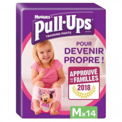 HUGGIES Pull-Ups Girl Taille 5 - De 11 a 18kg - 14 couches