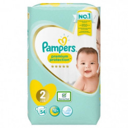 PAMPERS Premium Protection New Baby Taille 2 - 3 a 6 kg - 54