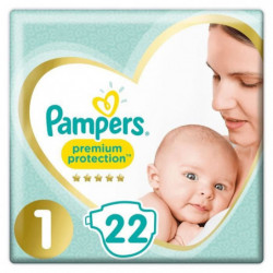 PAMPERS Premium Protection New Baby - Taille 1 - 2 a 5Kg - 2