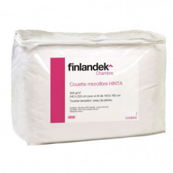 FINLANDEK Couette tempérée microfibre HINTA 220x240 cm blanc