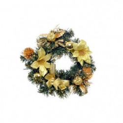 Couronne de Noël en PVC - Ø 30 cm - Or