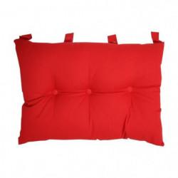 Tete de lit coussin 100% coton uni - 50x70 cm - Rouge