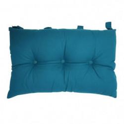 Tete de lit coussin 100% coton uni - 50x70 cm - Bleu canard