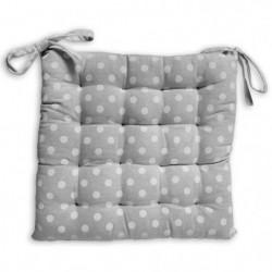 SOLEIL D'OCRE Galette de chaise capitonnée Passion en coton