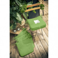 TODAY Lot de 6 Galettes de chaise 38x38x2cm - 100% Polyester