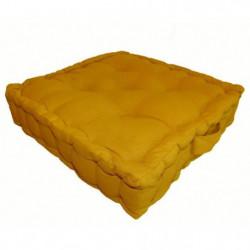 Coussin de sol 100% coton 40x40x9 cm MOUTARDE