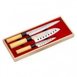 LA CUISINE D'ALBERT Coffret de couteaux 3 pieces Kiru 24-30-
