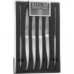 Set de 6 couteaux tout inox Laguiole Styl'Up