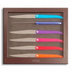 LAGUIOLE Coffret 6 Couteaux ACIDULE - Multicolor