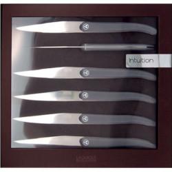 LAGUIOLE Coffret 6 Couteaux ACIDULE - Gris