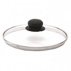 BEKA Couvercle performance verre - Bord inox - Ø 18 cm - Gri