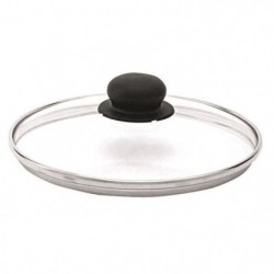 BEKA Couvercle performance verre - Bord inox - Ø 24 cm - Gri